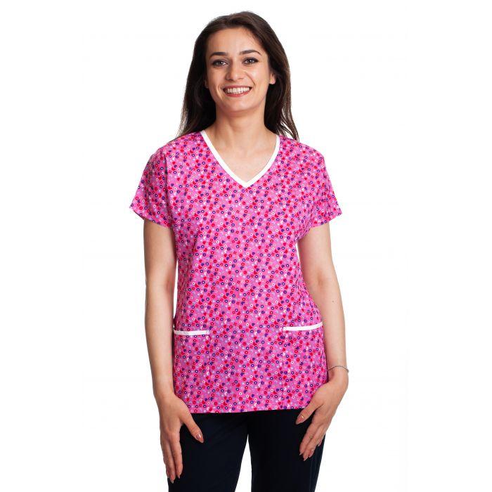 Bluza imprimata - Pink Hippie Butterflies