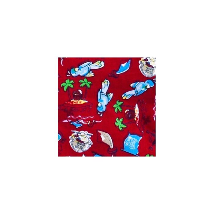 Bluza imprimata - Dark Red Parrot Booty Bay