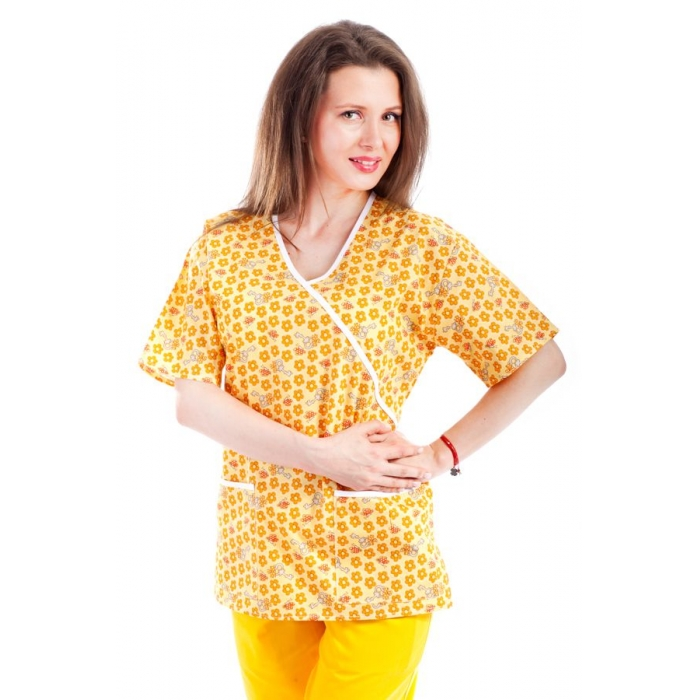 Bluza imprimata - Yellow Petal Keys