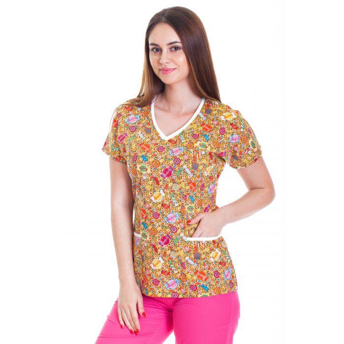 Bluza imprimata - Neon Yellow Lollipop