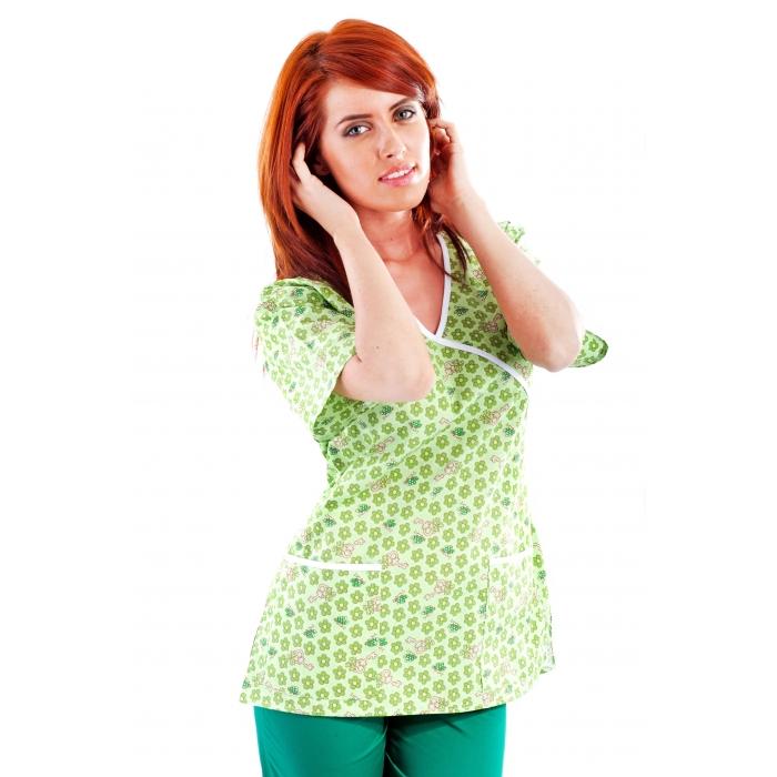 Bluza Imprimata - Green Petal Keys