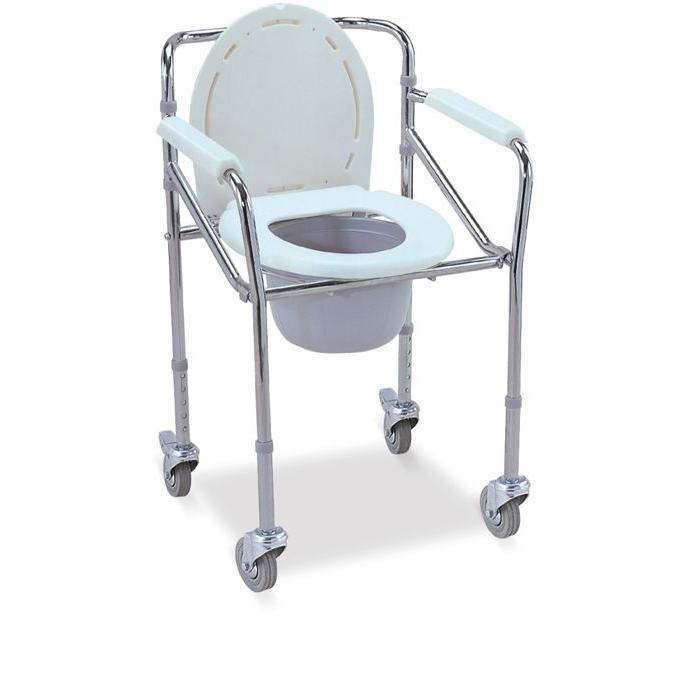 Fotoliu rulant cu vas de toaleta incorporat