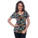 Bluza Imprimata - Black Tropical Butterflies