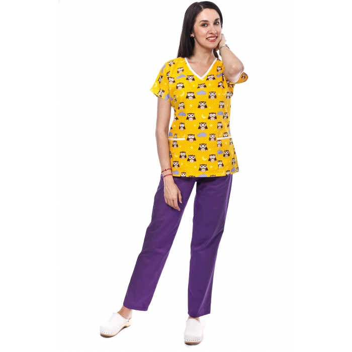 Bluza Imprimata - Yellow Owls